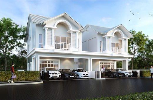 ใหม่ บ้านอิสระ & บ้านแฝด โครงการ เดอะ ซิมโฟนี่ ในศรีราชา จังหวัดชลบุรี 4 ห้องนอน